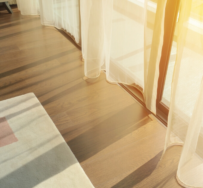 curtains in sunlight